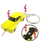 Electric Shock Mini Car Keychain with 2 LED Lights / Red Laser (Yellow)