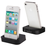 Black Dock Cradle Charger Station with 3.5mm Line out for iPhone 4 & 4S