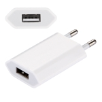 EU Plug USB Charger for iPhone 5, iPad mini, iPhone 4 & 4S, iPhone 3GS/3G, iPod Touch (White)