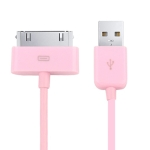USB Cable for iPhone 4 & 4S, iPhone 3GS/3G,  New iPad (iPad 3) / iPad 2/iPad, iPod Touch, Length: 1m (Pink)