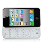 Ultra-Thin Slide-out Wireless Bluetooth Keyboard for iPhone 4 & 4S / iPhone 4 (CDMA), White
