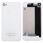 White Original version Glass Back Cover for iPhone 4, with Logo