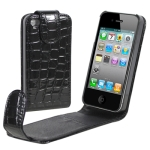 Chic Leather Case for iPhone 4 & 4S  (Black)