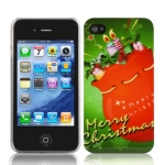 Christmas Style Plastic Case for iPhone 4