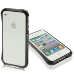 Aluminum Bumper Case for iPhone 4 & 4S (Black)