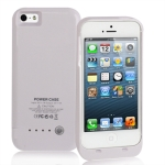 2500mAh Smooth Surface External Battery / Power Bank for iPhone 5 (White)
