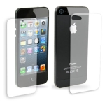 2 in 1 (Front Screen + Back Cover) Clear LCD Screen Protector for iPhone 5 (Taiwan Materials)
