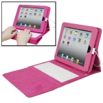 Foldable Leather Protective Case with Keyboard for iPad, Plug and Play