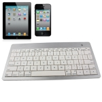 Mini Untra-thin Bluetooth Keyboard for New iPad (iPad 3) / iPad / iPhone, App system Laptop or Desktop , Metal Wire Drawing on the Keyboard Surface, Support iOS System