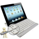 Perfect Design Mobile Bluetooth 3.0 ABS Hard Keyboard for New iPad (iPad 3) / iPad 2 (White)