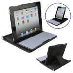 2 in 1 (Wireless Bluetooth Keyboard / 360 Degree Rotation Plastic Case Holder) for iPad 2