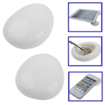 Eco-friendly Materials,Smart Pebble-Universal Silicone Cradle, Prevent Slippery and Hot (White)