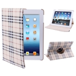 360 Degree Rotatable Scotland Gyrosigma Case with Holder for iPad 4 / New iPad (iPad 3) / iPad 2 (Beige)