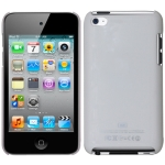 Plastic Case for iPod touch 4 (White),With Logo