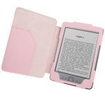 Leather Case with Litchi Texture for Amazon Kindle 4 (Pink)