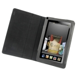7 inch Book Style Leather Case with Holder for Amazon Kindle Fire (Black)