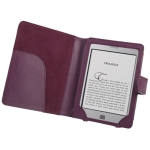 6 inch Book Style Cover With Magnetic Clasp for Amazon Kindle Touch / Touch 3G (Purple)