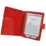 6 inch Book Style Cover With Magnetic Clasp for Amazon Kindle Touch / Touch 3G (Red)