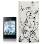 Simple Fashion Cirrus Pattern Diamond Encrusted Plastic Case for LG Optimus L3 / E400