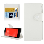 Carbon Skin Leather Case for Samsung Galaxy Ace S5830 (White)
