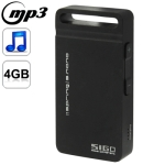 S.nano Mini Metal Shell Case MP3 Player, Built-in 4GB Memory (Black)