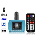 1.8 inch Car MP4 Player with FM Modulator, Supports USB Flash Diver and TF / SD Card (Blue)