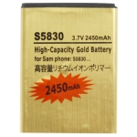 2450mAh High Capacity Gold Battery for Samsung Galaxy Ace / S5830 / S5660 / S5670