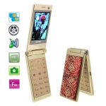 SHARO 518 Golden, Bluetooth FM function Clamshell Design Mobile Phone, Dual sim card Dual standby, Dual band, Network: GSM900 / 1800MHZ, Valentines Gift