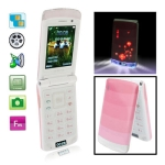 F8 Pink, Bluetooth FM function Clamshell Design Mobile Phone, Dual sim card Dual standby, Dual band, Network: GSM900 / 1800MHZ