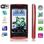 STAR X10 Red, 3.8 inch QVGA Touch screen, Analog TV (PAL/NTSC/SECAM), Dual sim card Dual standby Dual camera, Wifi JAVA Bluetooth FM function Mobile Phone, Swing change the wallpaper, Quad band, Network: GSM850/ 900 / 1800/ 1900MHZ
