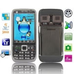 E73 Black, Russian Keyboard, TV (PAL/NTSC/SECAM), Dual sim card Dual standby Dual camera, Bluetooth FM & JAVA Touch Mobile Phone, Swing change the wallpaper, Quad band, Network: GSM850/ 900 / 1800/ 1900MHZ