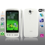 G700 White, TV (SECAM/PAL/NTSC), Dual camera, Wifi & JAVA & Bluetooth FM function Touch Screen Mobile Phone, Quad band, Network: GSM850/ 900 / 1800/ 1900MHZ