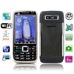 Chang Jiang E81, Russia Keyboard, TV (PAL/NTSC/SECAM), Dual sim card Dual standby Dual camera, Bluetooth FM function & JAVA Touch Mobile Phone, Quad band, Network: GSM850/ 900 / 1800/ 1900MHZ (Black)