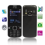 6700 Black, Analog TV (SECAM/PAL/NTSC) & Bluetooth FM function Mobile Phone, Dual Sim cards Dual standby, 2 TF Card Slots, Quad band, Network: GSM850/ 900 / 1800/ 1900MHZ