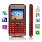 Q1 Red, Dual Sim cards Dual standby, QWERTY Keyboard, Analog TV (PAL/NTSC), JAVA Bluetooth FM function Mobile Phone, Quad band, Network: GSM850/ 900 / 1800/ 1900MHZ