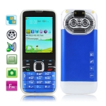 C501 Blue, Russian Keyboard, Big Speaker, Bluetooth FM function Mobile Phone, Dual Sim cards Dual standby, Dual band, Network: GSM900 / 1800MHZ