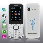 T6 White, Russian Keyboard, Big Speaker, Bluetooth FM function Mobile Phone, Dual Sim cards Dual standby, Dual band, Network: GSM900 / 1800MHZ