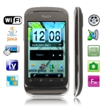 HI7 Black, Analog TV(PAL/NTSC/SECAM), Wifi JAVA Bluetooth FM function Touch Screen Mobile Phone, Dual Sim cards Dual standby, Quad band, Network: GSM850/ 900 / 1800/ 1900MHZ