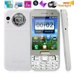 C5 TV White, Russian Keyboard, Big Speaker, Analog TV (PAL/NTSC/SECAM), Dual sim cards Dual standby, Bluetooth FM function Touch Screen Mobile Phone, Quad band, Network: GSM850/ 900 / 1800/ 1900MHZ