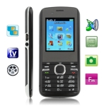 M300 Black, Russian Keyboard, Big Speaker, Analog TV (PAL/NTSC), Dual sim cards Dual standby, Bluetooth FM function Mobile Phone, Dual band, Network: GSM900 / 1800MHZ
