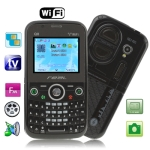 Q8 Black, Analog TV (PAL/NTSC/SECAM), QWERTY Keyboard, Wifi Bluetooth FM function Mobile Phone, Dual band, Network: GSM900 / 1800MHZ