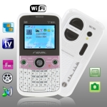 Q8 White, Analog TV (PAL/NTSC/SECAM), QWERTY Keyboard, Wifi Bluetooth FM function Mobile Phone, Dual band, Network: GSM900 / 1800MHZ