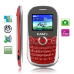 KA10 Red, Russian Keyboard, Bluetooth FM function Mobile Phone with Metal battery cover, Dual sim cards Dual standby, Dual band, Network: GSM900 / 1800MHZ