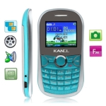 KA10 Turquoise, Russian Keyboard, Bluetooth FM function Mobile Phone with Metal battery cover, Dual sim cards Dual standby, Dual band, Network: GSM900 / 1800MHZ
