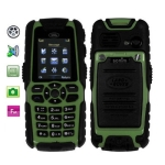 S8 Green, Dustproof + Shockproof Mobile Phone with Flashlight, Bluetooth & FM Function, Single SIM Card, Network: GSM900/ 1800/ 1900MHz
