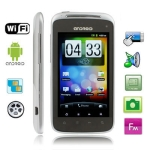 A3 Silver, GPS + Android 2.3 Version, Analog TV (SECAM/PAL/NTSC), Wifi Bluetooth FM function Capacitive Touch Screen Mobile Phone, Dual Sim cards Dual standby Dual Cameras, WCDMA + GSM Network, Band (WCDMA): 850/1900/2100MHZ; Band (GSM): 850/900/1800/1900MHZ