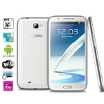 N9589 Note 2 White , GPS + AGPS, Android 4.1.2 Version, CPU Chip: MT6589 1.2GHZ Quad Core, ROM: 4GB , RAM: 1GB , 5.7 inch HD IPS Capacitive Surface Touch Screen 3G Ultra-thin Smart PAD Phone with Wifi Torch Bluetooth FM function, Dual Sim cards Dual standby Dual Cameras, WCDMA & GSM Network, Band (WCDMA): 2100/850MHZ (HSDPA); Band (GSM): 850/900/1800/1900MHZ