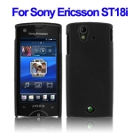 Plastic Case for Sony Ericsson Xperia Ray ST18i (Black)