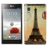 Eiffel Tower Pattern Plastic Case for LG Optimus P760 / L9