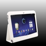 Leather Case with Holder for Motorola Xoom (White)